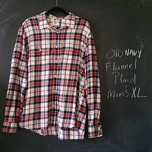 Old Navy Flannel Plaid Shirt Regular Fit XL